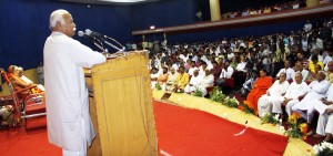 RSS Sarasanghachalak Mohan Bhagwat addressing the national seminar