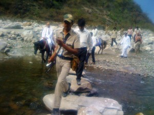VHP Chief Dr Pravin Togadia reaches Uttarakhand Calamity affected areas on Friday.