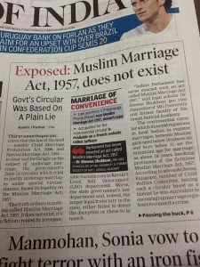 toi on Muslim marriage act