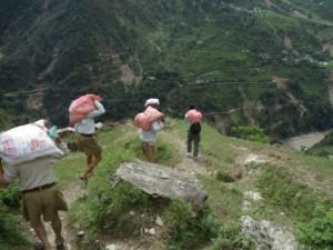 RSS Swayamsevaks in Uttarakhand.