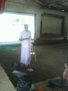 RSS Mangalore Vibhag Seva Pramukh Subraya Nandodi addressed
