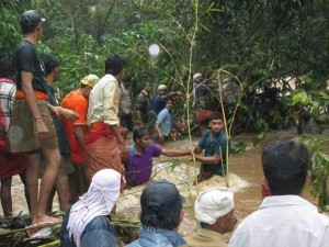 RSS-Sevabharati activists immediately stepped in for relief works.
