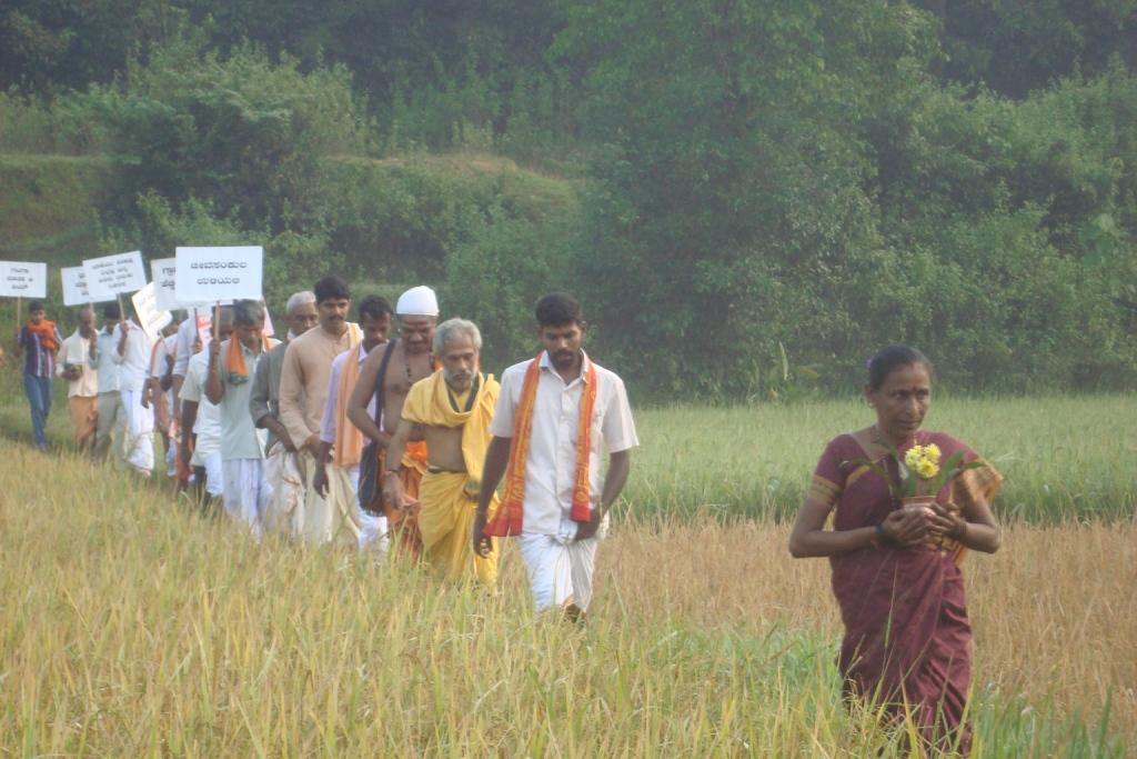 Bharat Parikrama Yatra at Bakrebailu Village Oct-19-2012