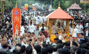 The Krishnashtami Procession (Shobhayatra)