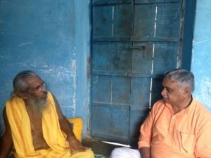 Dr Manmohan Vaidya meets Kedilaya on Aug 12-2013 at Bhojpura Rajasthan