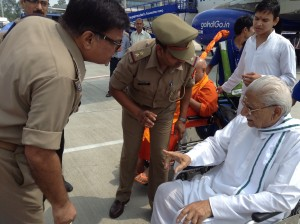 VHP Veteran Ashok Singhal, an untired warrior, RSS Pracharak, recently arrested in Lucknow during VHP's 84-Kosi Parikrama Yatra. Singhal's contribution is high for the VHP in last 25 years.