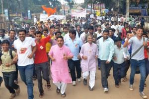 BJP State President Prahlad Josji, RSS Sah Pranth Karyavah Sridhar Nadiger joined RUN FOR BHARATH