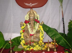 Idol of Sri Ganesha at RSS Headquarters, Keshavakrupa, Bangalore, Sept-09-2013