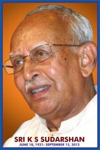 KS Sudarshan, RSS foermer Sarasanghachalak