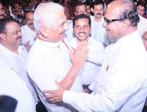 Dr Prabhakar Bhat meets Janardhan Poojary in Mangalore