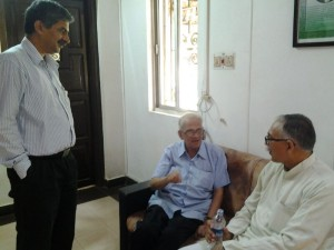 Arun Kumar met and discussed issues related Jammu ans Kashmir with MV Kamath, Sebior Journalist and former Chief of Prasar Bharati