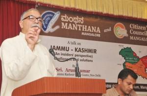 Sri Arun Kumar speaks at SDM College Mangalore on Wednesday evening