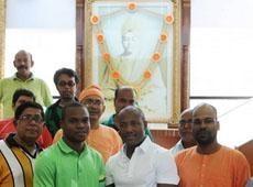 Brian Lara recently visited Swami Vivekananda's abode in Kolkata