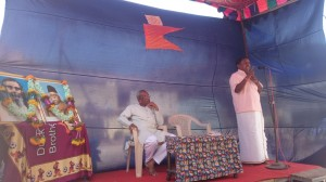 RSS Pracharak Muniyappa addressing