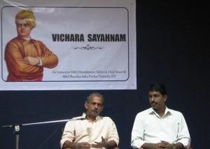 J Nandkumar (RSS Akhil Bharatiya Sah Prachar Pramukh) and Rajesh Padmar (Coordinator, VSK Karnataka)