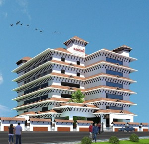 KESARI- the new building's graphic design