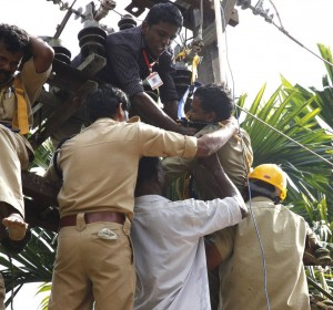 Dhanesh in rescue work