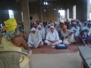 vpo tarmala me gram panchayat  ke sath me swami ji