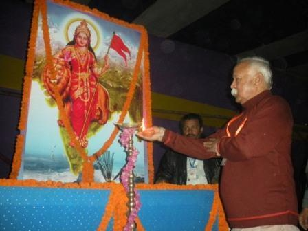 RSS Sarasanghachalak Mohan Bhagwat participated in republic day programme at Tejpur, Assam