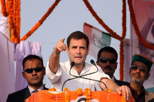 Addressing a rally at Sonale in Bhiwandi on 6 March, Rahul had said that RSS people killed Gandhiji. Photo: Courtesy Pradeep Gaur/LiveMint