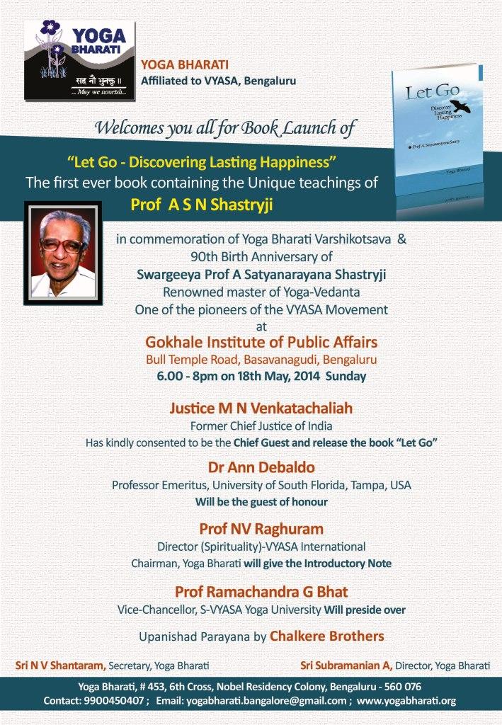 YB-Shastryji book launch inv.1