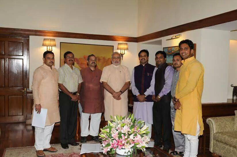 Team ABVP with PM Modi June 26-2014