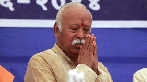 Mohan Bhagwat was addressing a gathering on an occasion to mark centenary death anniversary of Maharashtrian spiritual leader Vasudevanand Saraswati Maharaj in Garudeshwar. (Photo Courtesy: IE)