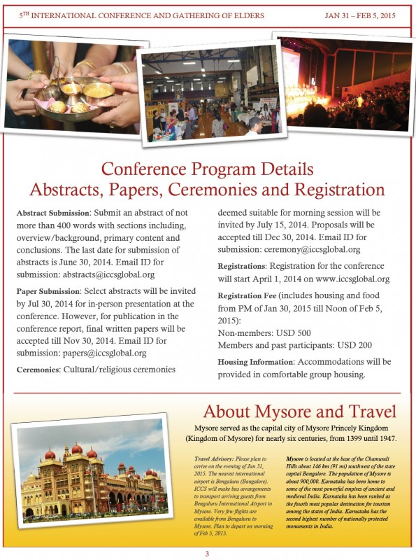 5th International Conference and Gathering of adults- Mysore-Jan-Feb-2015 Page-3