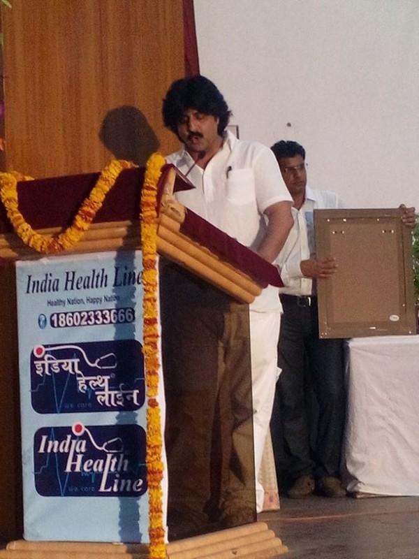 Dr Sarvesh Joshi speaking