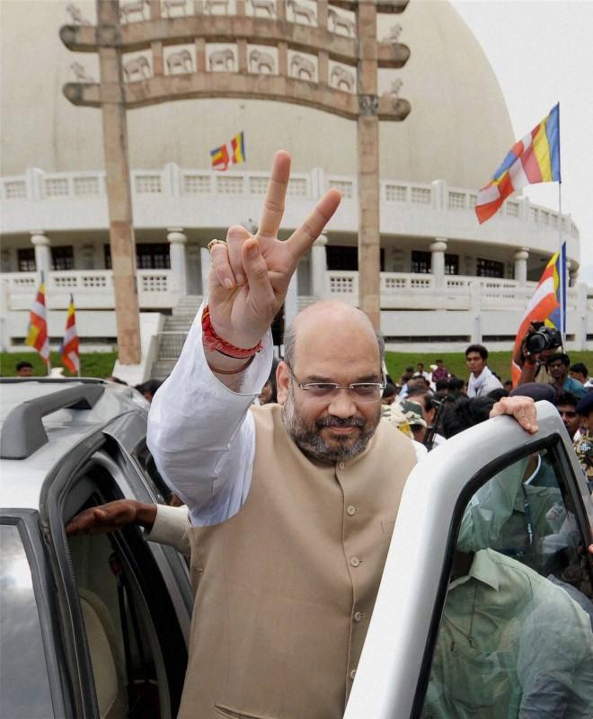 Nagpur: BJP National President Amit Shah at Deekshabhoomi