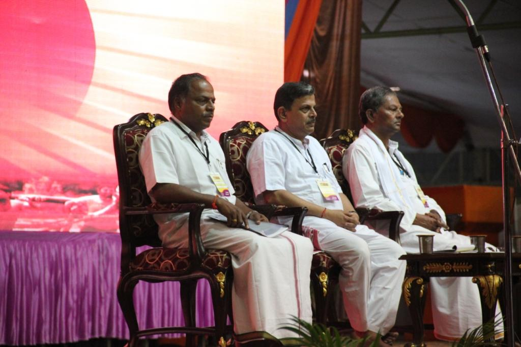 RSS Pranth Karyavah N Tippeswamy, RSS Sahasarakaryavah Dattatreya Hosabale, RSS Pranth Sanghachalak M Venkataram