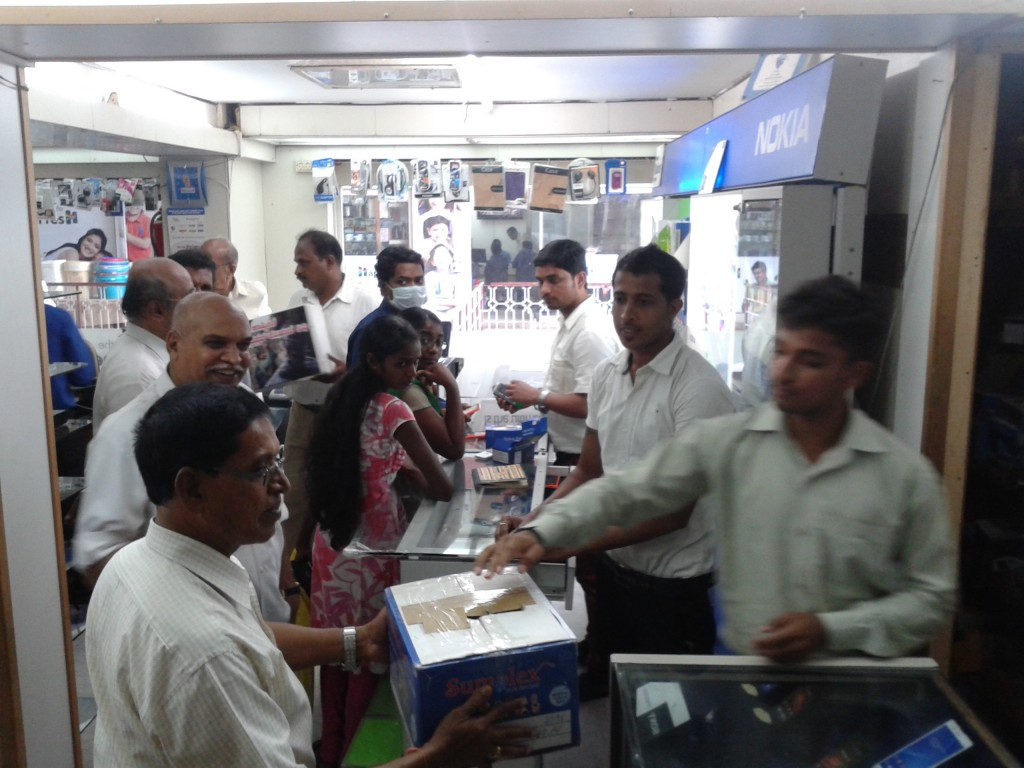Mangalore: RSS-VHP volunteers at Flood Relief Fund Collection
