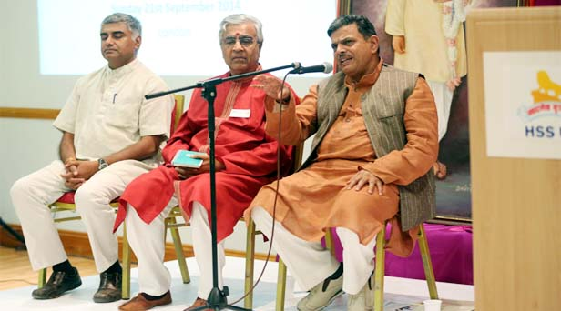 RSS Sahasarakaryavah Dattatreya Hosabale addressing at UK