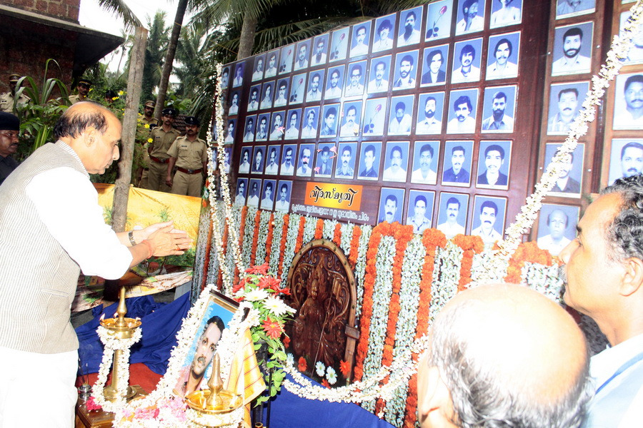 Rajnath Sing payed tributes to all RSS activists who became victim of hate politics in Kerala.