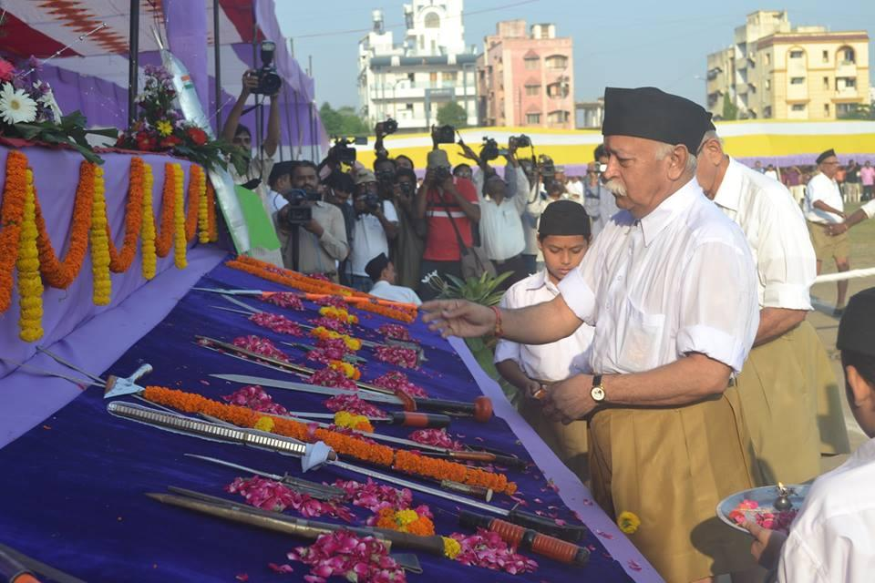 RSS Sarasanghachalak at VIJAYA Dashami Celebrations Nagpur October 3, 2014