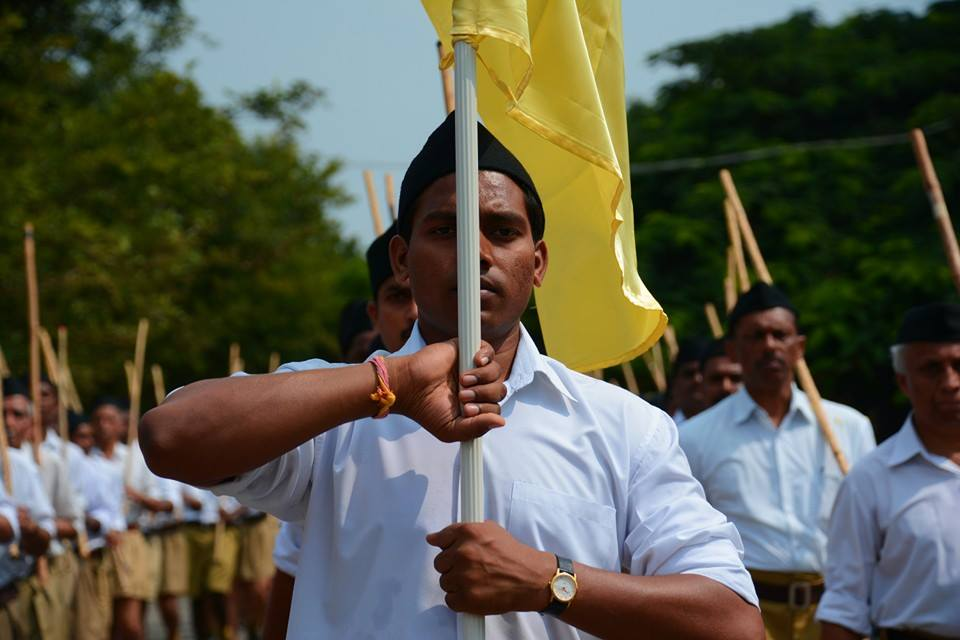 Celebrating Vijayadashami, Spectacular RSS Path Sanchalan held at Jayanagar, Bangalore