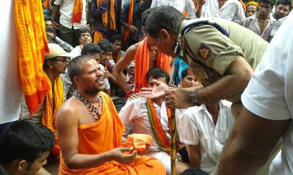 Mangaluru: Massive protest held by VHP- Bajarangadal condemning attack on Datta Peetha pilgrims at Ulaibettu