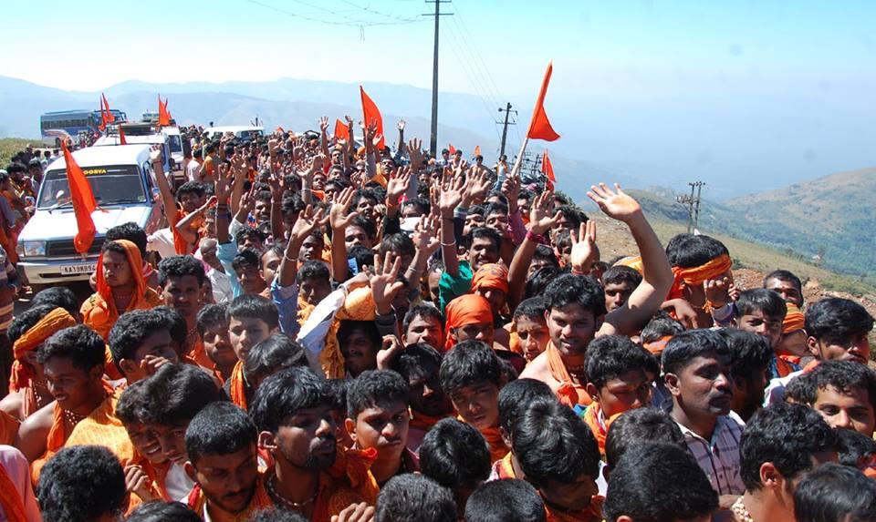 15,000 Bajarangadal Karyakarta's attended historic Datta Mala Abhiyan at Chikkamagaluru