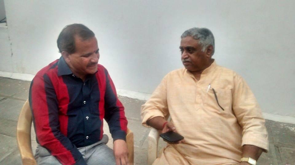 Dr Manmohan Vaidya with Pradip Kumar