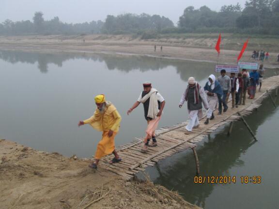 Day 858:  Bharat Parikrama Yatra enters Nepal; Kedilaya inspires villagers aiming Gram Vikas