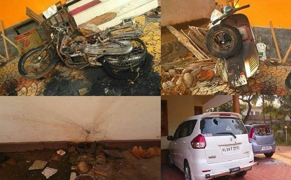 RSS Swayamsevak's houses attacked at Payyannur, RSS strongly condemns