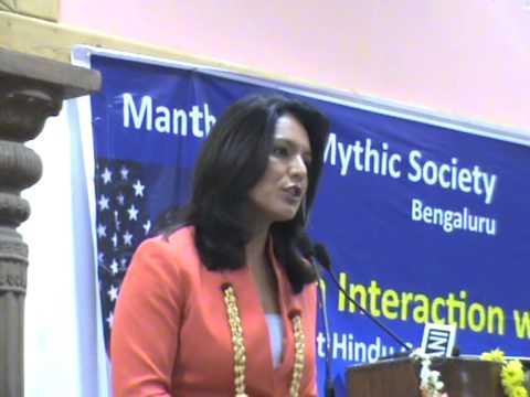 [Video] Tulsi Gabbard, First Hindu Congresswoman of USA interacts with Bengalurians