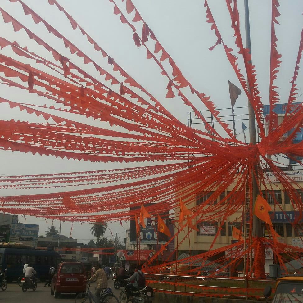 Shivamogga City drenched in Saffron, ready for Sunday's spectacular Sanchalan