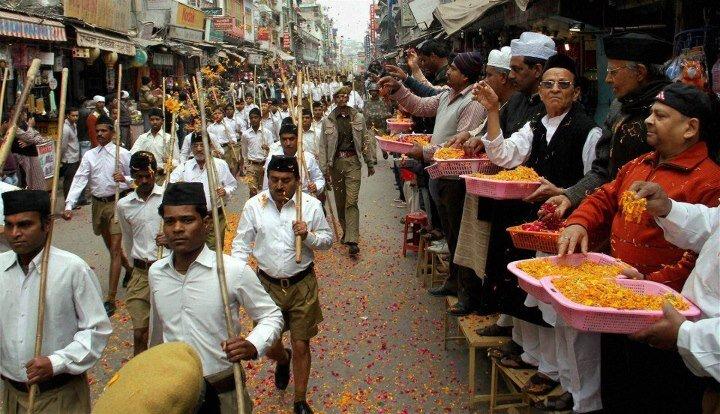 Patriotic Muslims welcoming the RSS Path Sanchalan:  FILE PHOTO