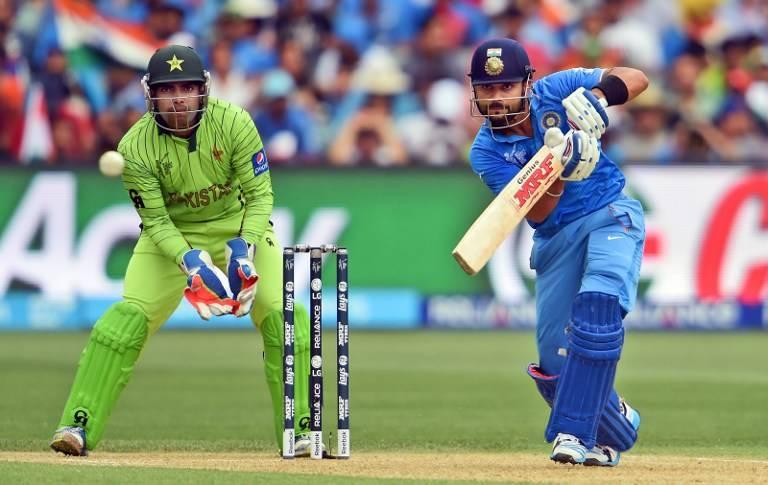 Virat Kohli on way to his century against Pakistan in Adelaide on Sunday.
