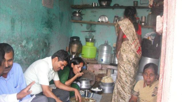 IAS officer DK Ravi and his wife Kusuma having a meal at a Dalit's home last year
