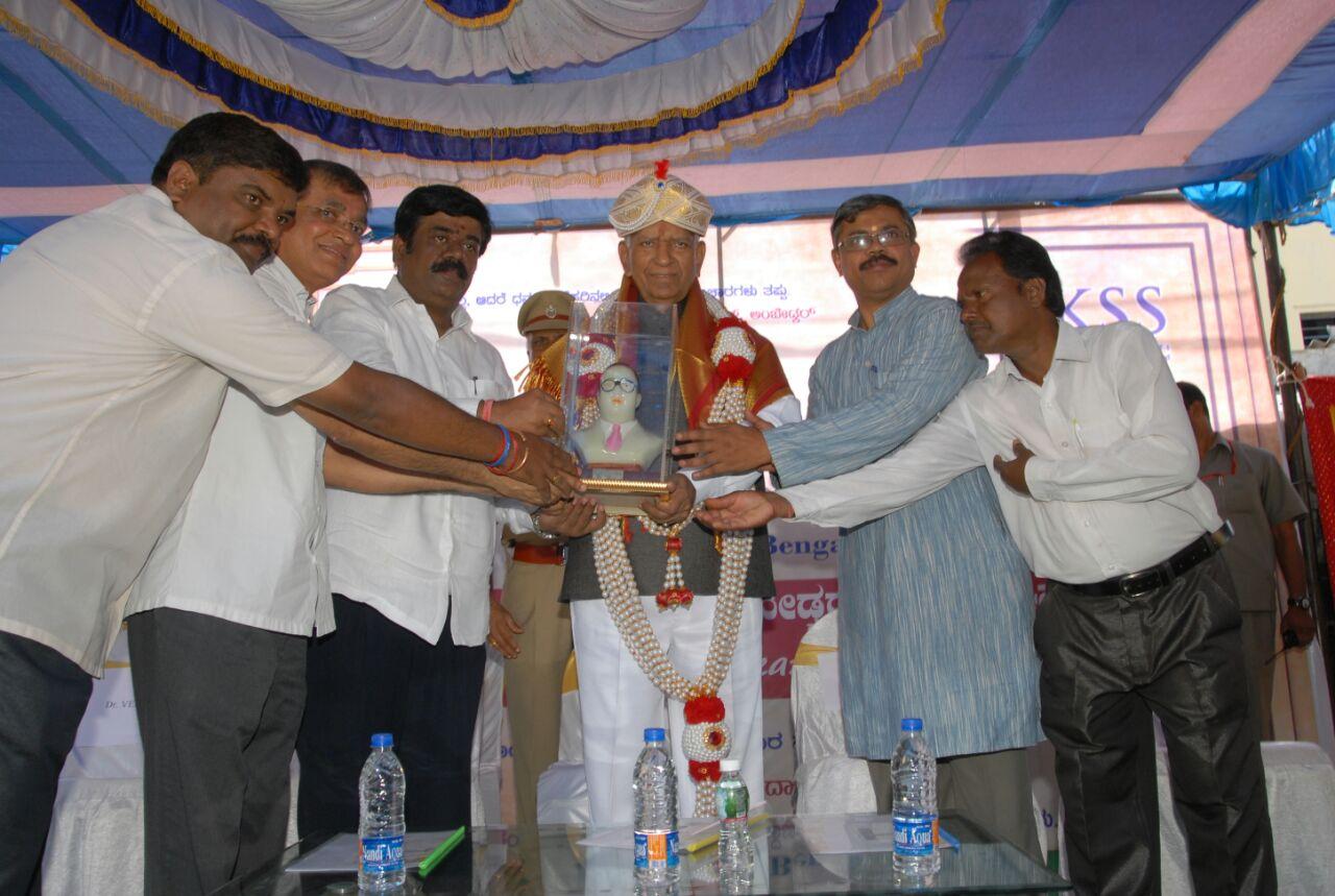 RSS inspired NGO celebrates Dr Ambedkar Jayanti, Governor VR Vala visits slum in Bengaluru
