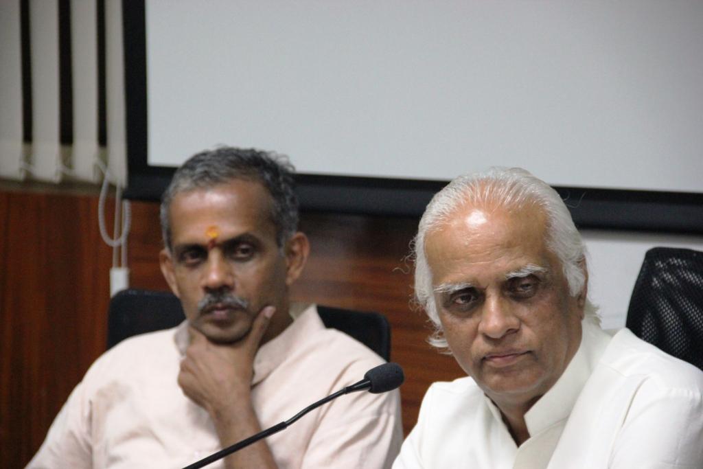 Prof BK Kuthiala addressing during valedictory