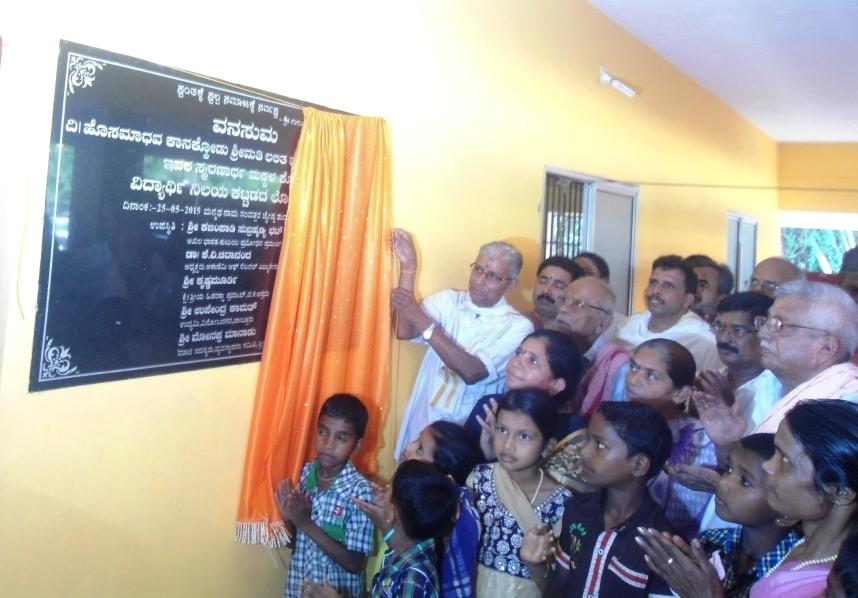 Kajampady Subramanya Bhat, RSS leader and Akhil Bharatiya Samyojak of Parivar Prabodhan inaugurated the hostel.