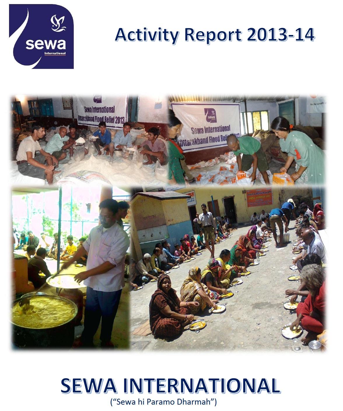 Seva International Activity Report 2014